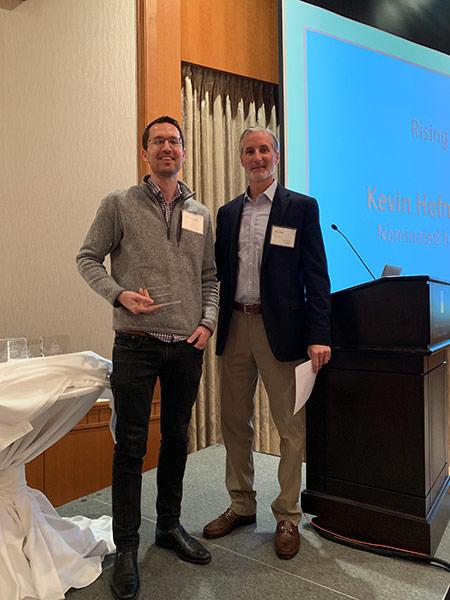 Kevin Hofmaenner receiving award